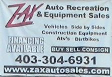 Zax Auto Recreation Equipment Sales